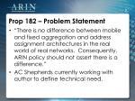 prop 182 problem statement