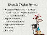 example teacher projects