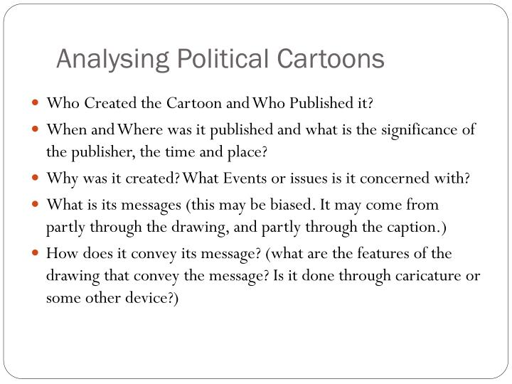 analysing political cartoons n.