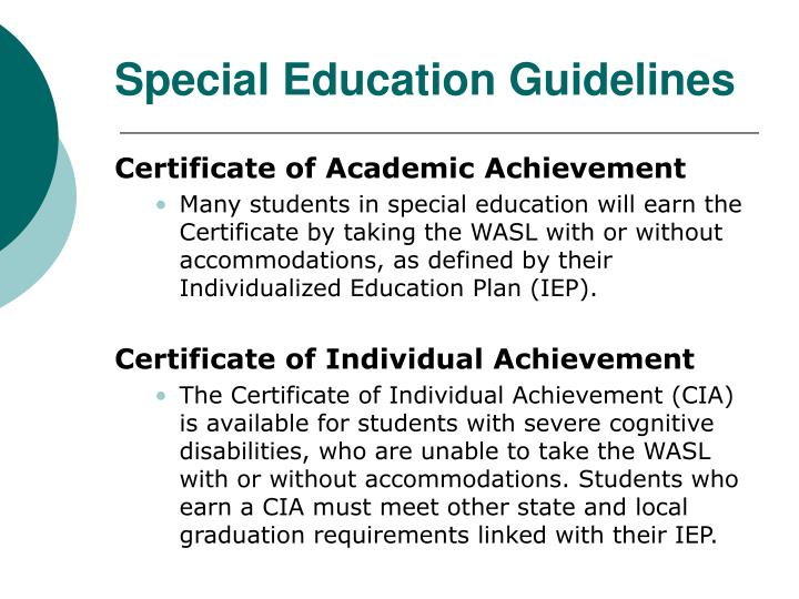 Special Education Guidelines