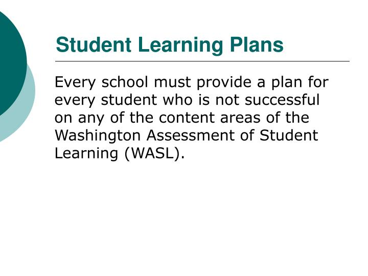Student Learning Plans