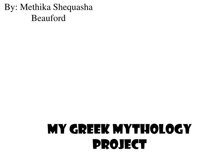 my greek mythology project n.