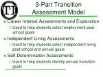 3 part transition assessment model