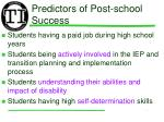 predictors of post school success