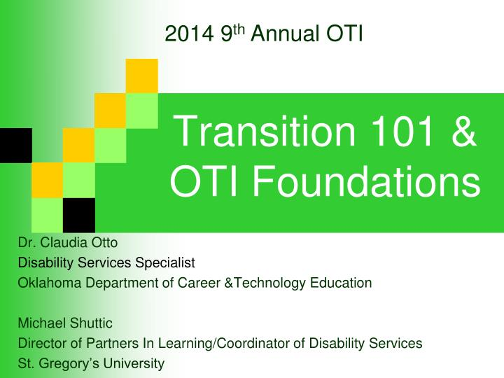 transition 101 oti foundations n.