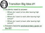transition big idea 1