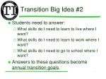 transition big idea 2