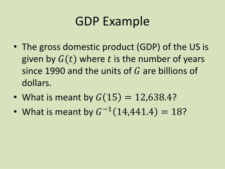 GDP Example