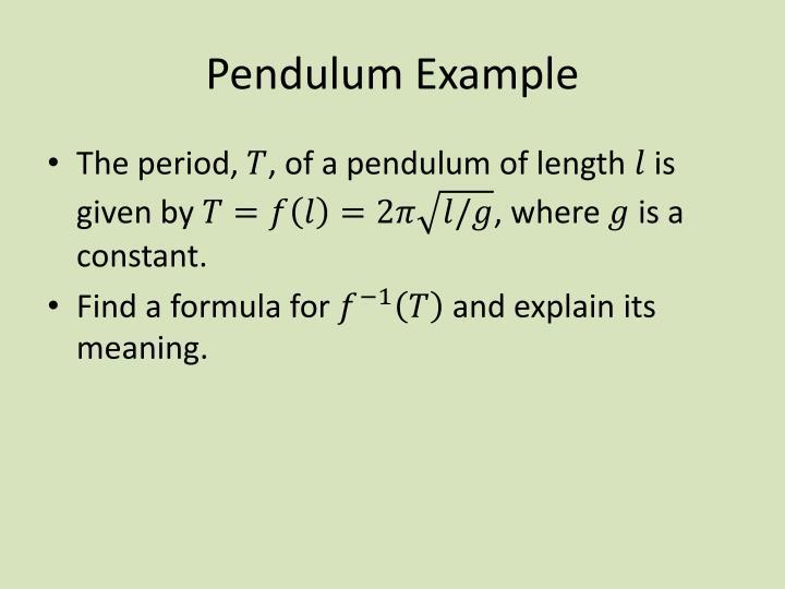 Pendulum Example