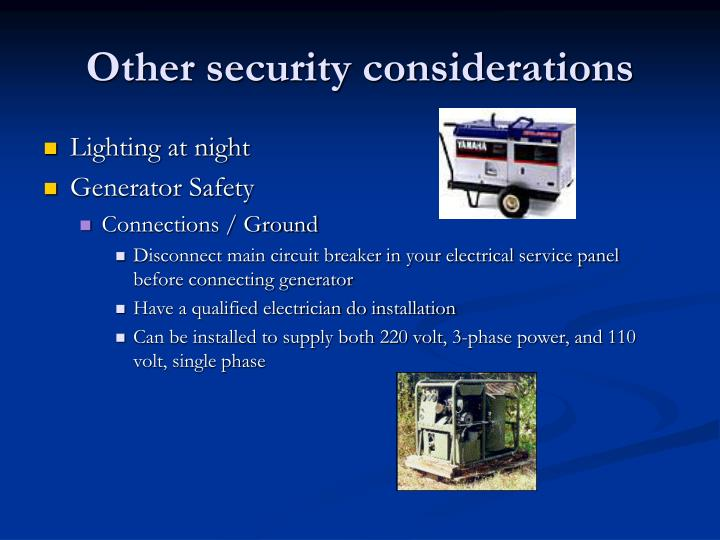 Other security considerations