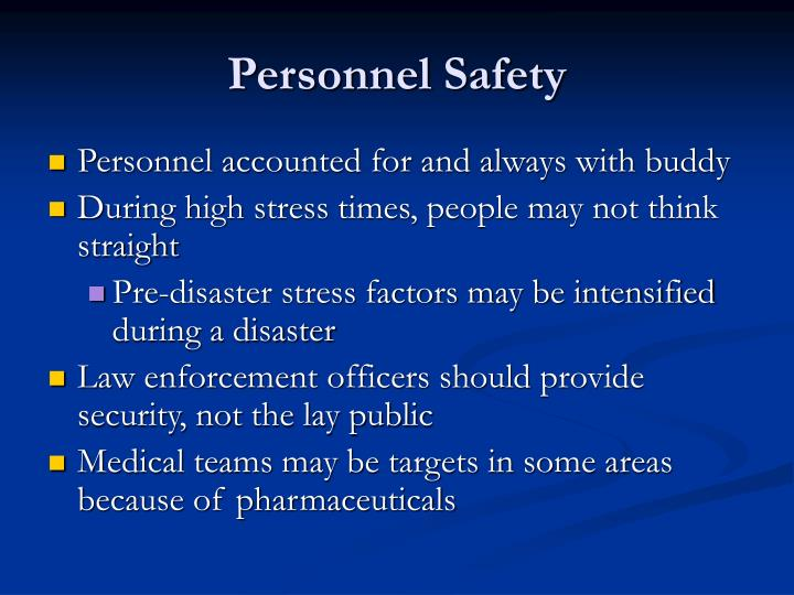 Personnel Safety