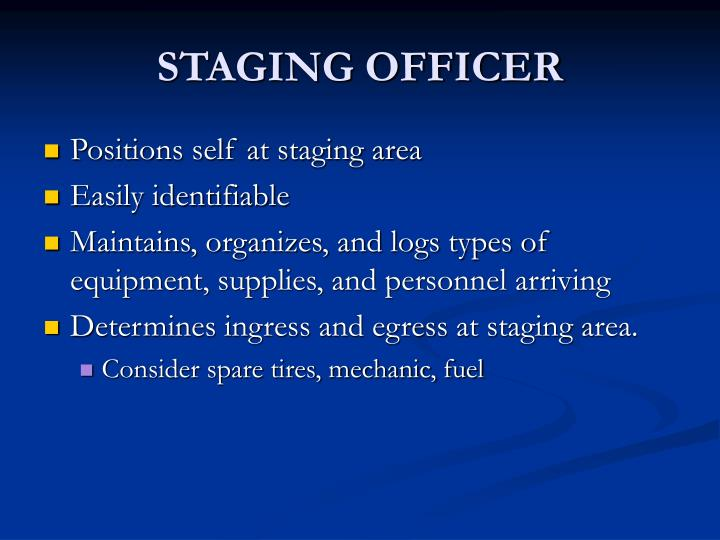 STAGING OFFICER