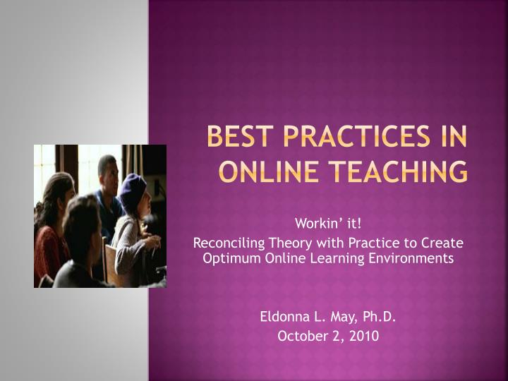 best practices in online teaching n.
