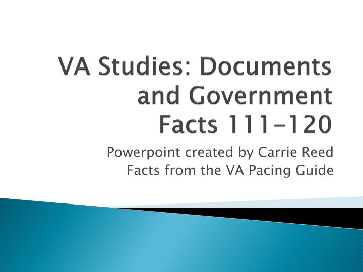 va studies documents and government facts 111 120 n.
