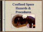 confined space hazards procedures