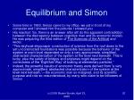 equilibrium and simon