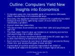 outline computers yield new insights into economics