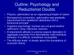 outline psychology and reductionist doubts