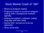 stock market crash of 1987