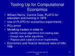 tooling up for computational economics