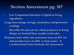 section assessment pg 167