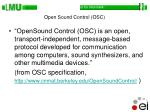 open sound control osc