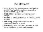 osc messages