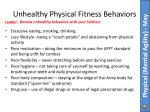 unhealthy physical fitness behaviors