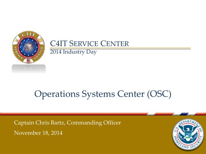 operations systems center osc n.
