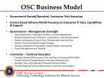 osc business model
