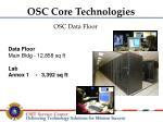 osc data floor