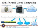 path towards cloud computing