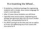 r e inventing the wheel