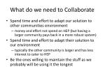 what do we need to collaborate