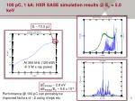 100 pc 1 ka hxr sase simulation results @ e 5 0 kev