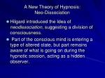 a new theory of hypnosis neo dissociation