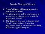 freud s theory of humor