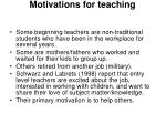motivations for teaching