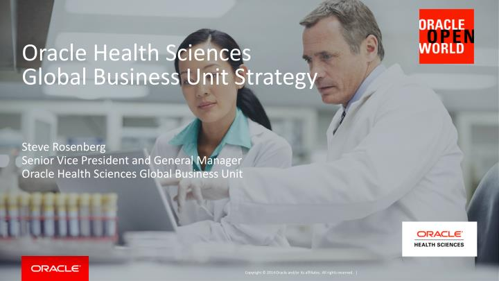 oracle health sciences global business unit strategy n.