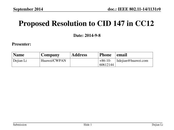 proposed resolution to cid 147 in cc12 n.