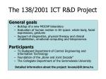 the 138 2001 ict r d project