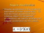 angular acceleration1
