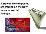 5 how many companies are tracked on the d ow jones industrial average