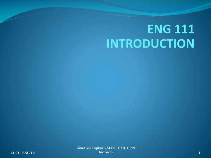 eng 111 introduction n.