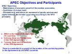 apec objectives and participants