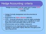 hedge accounting criteria