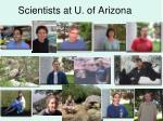 scientists at u of arizona