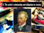 9 the artist s relationship and obligation to society