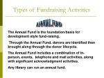 types of fundraising activities1