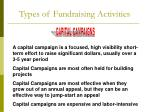 types of fundraising activities3